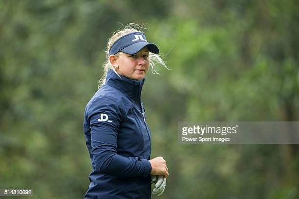 Emily Kristine Pedersen of Denmark tees off the 14th hole during Round 2 of the World Ladies Championship 2016 at Mission Hills Olazabal Golf Course...