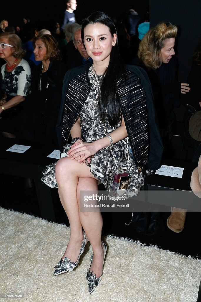 Emily Lam attends the Giambattista Valli show as part of the Paris Fashion Week Womenswear Fall/Winter 2014-2015 on March 3, 2014 in Paris, France.