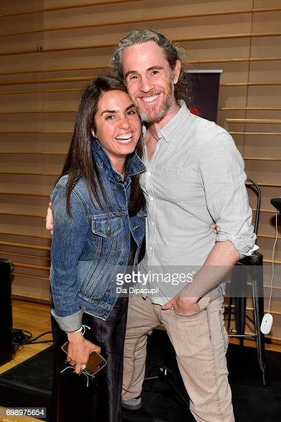 Emily Lazar and Scott Jacoby attend the GRAMMY Pro Art of the Craft The Listening Sessions at The DiMenna Center on June 20 2017 in New York City