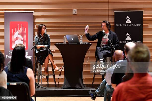 Emily Lazar and Tom Elmhirst attend the GRAMMY Pro Art of the Craft The Listening Sessions at The DiMenna Center on June 20 2017 in New York City