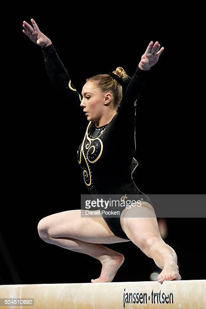 Emily Little of WA competes on the Beam during the Australian Gymnastic Championships Mens and Womens All Round Final on May 22 2015 in Melbourne...