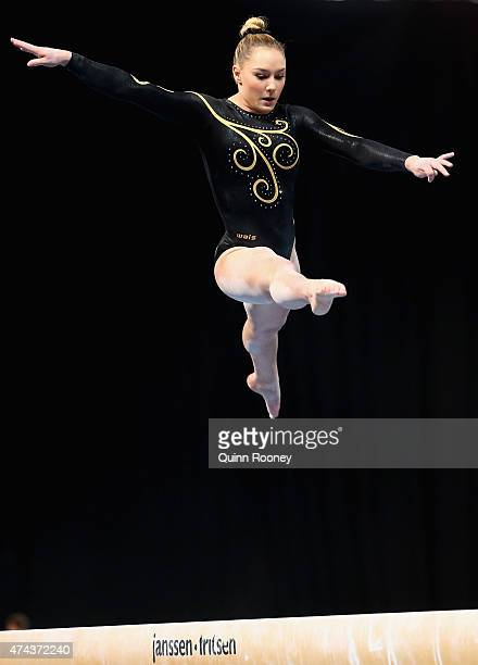 Emily Little of Western Australia competes on the Beam during the Australian Gymnastic Championships Mens and Womens All Round Final on May 22 2015...