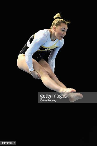 Emily Little of Western Australia competes on the floor during the 2016 Australian Gymnastics Championships at Hisense Arena on May 27 2016 in...