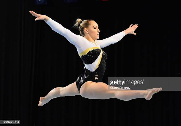 Emily Little of Western Australia competes on the Floor during the Australian Gymnastics Championships at Hisense Arena on May 26 2017 in Melbourne...