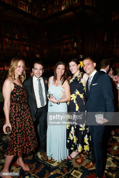 Emily Loughlin Alexander Clark Alexandra Hancock Mallory Morgan and Jason Apostolidis attend the Morgan Young Fellows Summer Soiree at The Morgan...