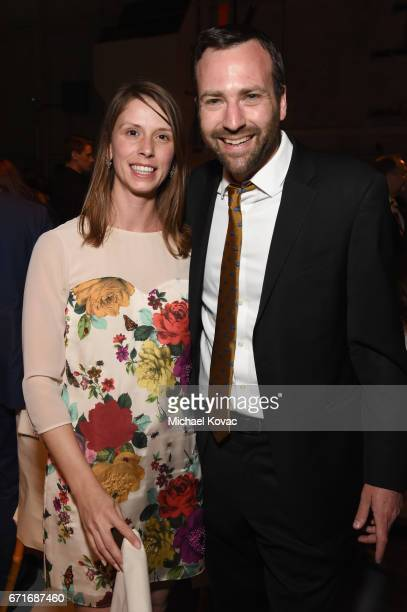 Emily Luthern and CA State Senator Ben Allen at The Humane Society of the United States' To the Rescue Los Angeles Gala at Paramount Studios on April...
