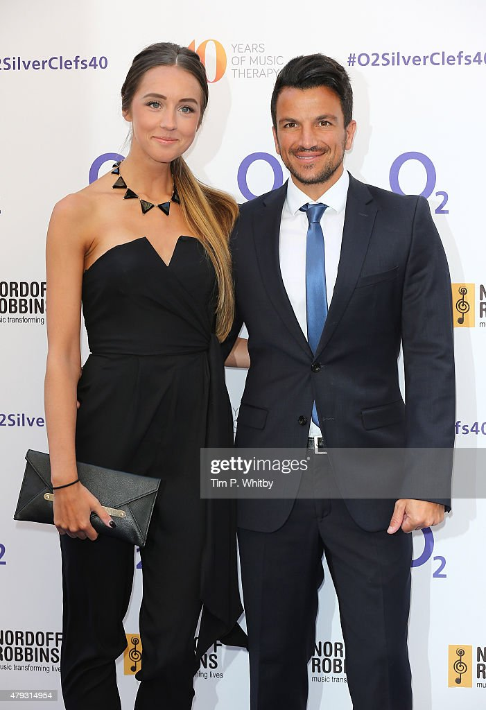 Emily MacDonagh and Peter Andre attend the Nordoff Robbins 02 Silver clef Awards at The Grosvenor House Hotel on July 3, 2015 in London, England.