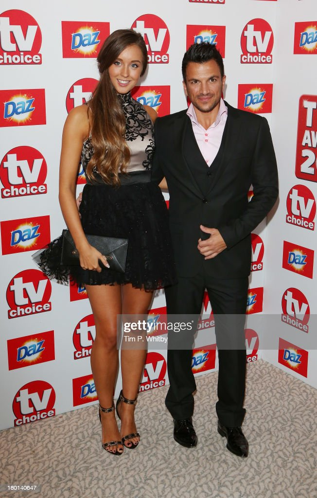 Emily MacDonagh and Peter Andre attend the TV Choice Awards 2013 at The Dorchester on September 9, 2013 in London, England.