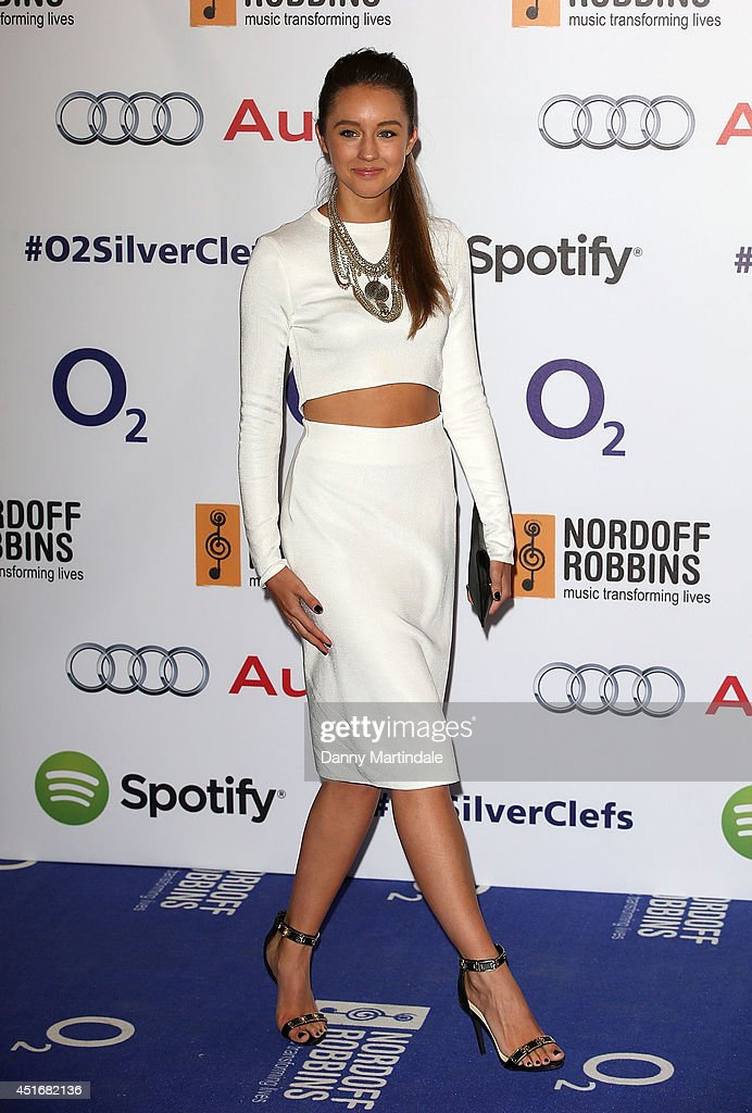 <a gi-track='captionPersonalityLinkClicked' href=/galleries/search?phrase=Emily+MacDonagh&family=editorial&specificpeople=9555202 ng-click='$event.stopPropagation()'>Emily MacDonagh</a> attends the Nordoff Robbins 02 Silver Clef awards at London Hilton on July 4, 2014 in London, England.