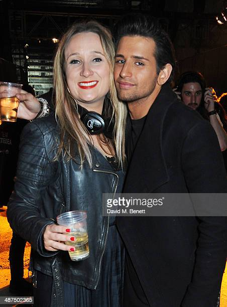 Emily Maddick and Ollie Locke attend the Battersea Power Station Annual Party on April 30 2014 in London England