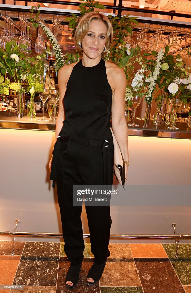 Emily Maitlis attends the London Evening Standard Londoner's Diary 100th Birthday Party in partnership with Harvey Nichols at Harvey Nichols on May 25, 2016 in London, England.