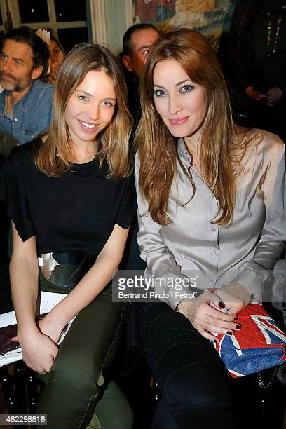 Emily Marant and Mareva Galanter attend Alexis Mabille show as part of Paris Fashion Week Haute Couture Spring/Summer 2015 on January 26 2015 in...