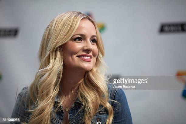 Emily Maynard signs copies of her new book 'I Said Yes My Story of Heartbreak Redemption and True Love' at Mall of America on March 11 2016 in...