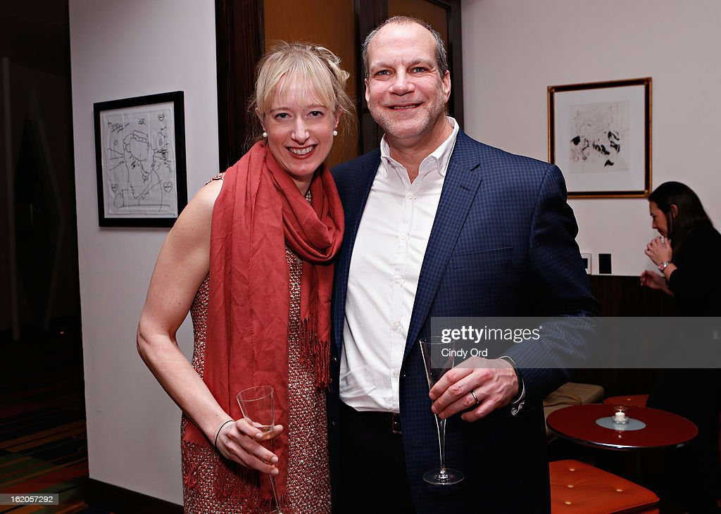 Emily McLintock and Norman Miller attend the Gotham Magazine & Moroccanoil Celebrate With Step Up Women's Network event on February 18, 2013 in New York City.