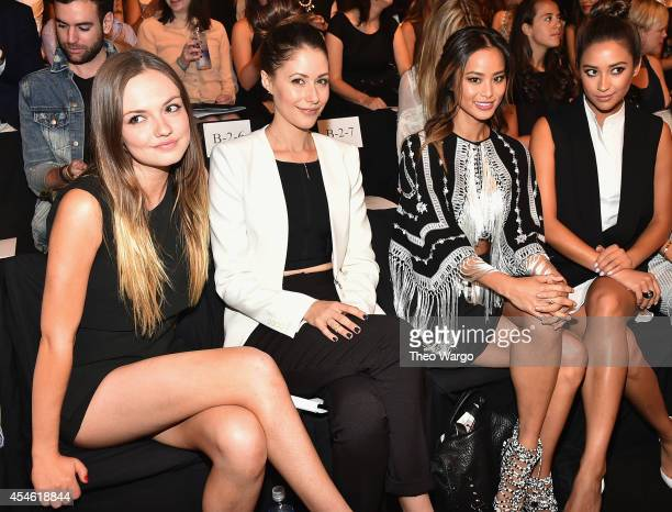 Emily Meade Amanda Crew Jamie Chung and Shay Mitchell attend BCBGMAXAZRIA during MercedesBenz Fashion Week Spring 2015 at The Theatre at Lincoln...