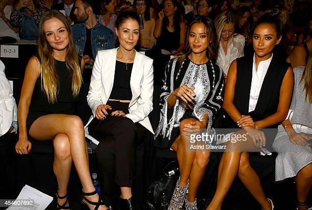 Emily Meade Amanda Crew Jamie Chung and Shay Mitchell attend the BCBGMAXAZRIA fashion show during MercedesBenz Fashion Week Spring 2015 at The...