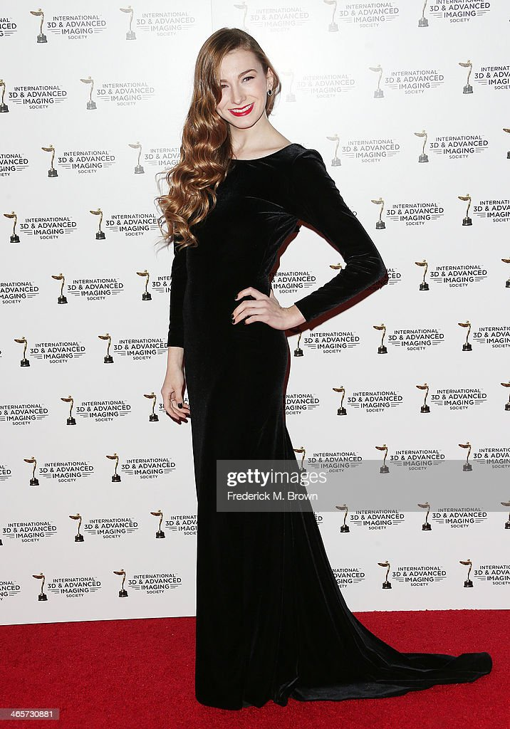 Emily Mest attends the 2014 International 3D and Advanced Imaging Society's Creative Arts Awards at the Steven J. Ross Theatre, Warner Bros. Studios on January 28, 2014 in Burbank, California.