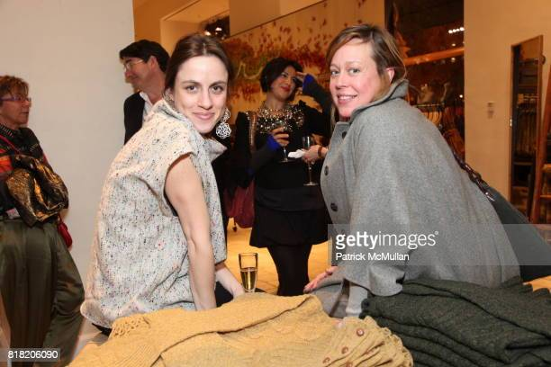Emily Miranda and Rebecca Chamberlain attend Anthropologie Hosts US Book Launch of BLOW BY BLOW at Anthropologie at Rockefeller Center on November 3...