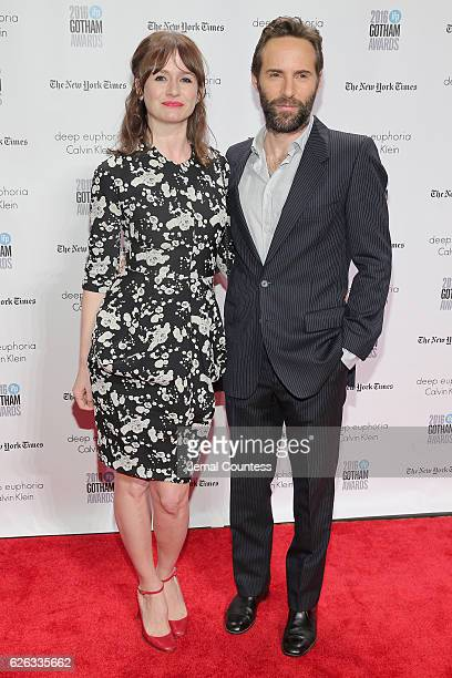 Emily Mortimer and Alessandro Nivola attend IFP's 26th Annual Gotham Independent Film Awards at Cipriani Wall Street on November 28 2016 in New York...