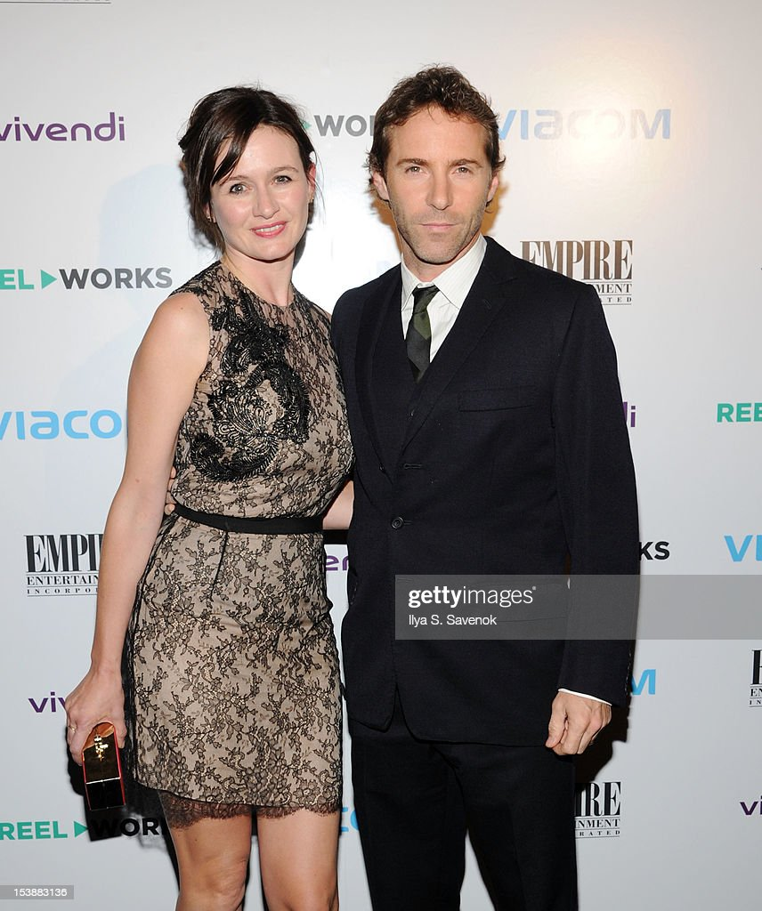 Emily Mortimer and Alessandro Nivola attend Reel Works 2012 Gala Benefit at The Edison Ballroom on October 10, 2012 in New York City.