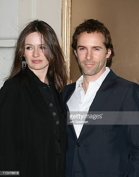 Emily Mortimer and Alessandro Nivola attend the opening night of 'God of Carnage' on Broadway at the Bernard Jacobs Theatre on March 22 2009 in New...