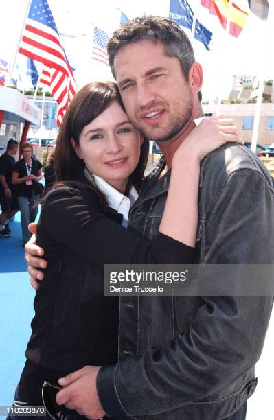Emily Mortimer and Gerard Butler during 2004 Cannes Film Festival Panel Discussion on Dear Frankie at The American Pavilion in Cannes France