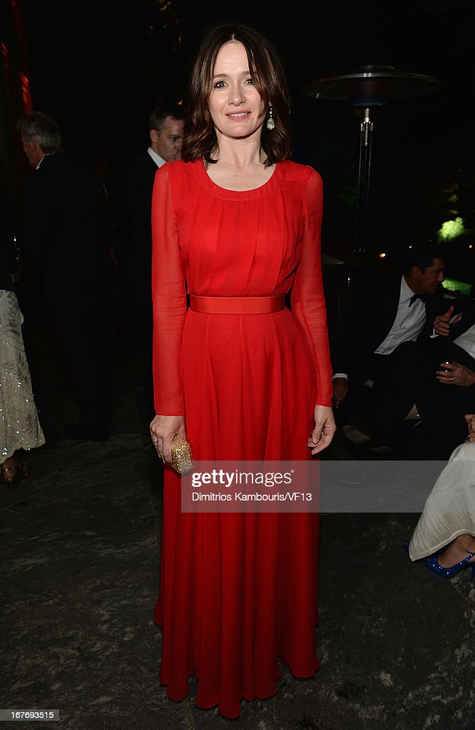 Emily Mortimer attends the Bloomberg & Vanity Fair cocktail reception following the 2013 WHCA Dinner at the residence of the French Ambassador on April 27, 2013 in Washington, DC.