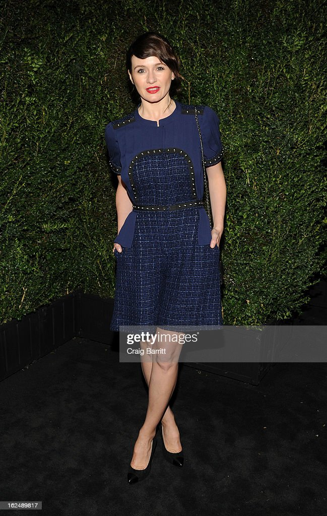 Emily Mortimer attends the Chanel Pre-Oscar dinner at Madeo Restaurant on February 23, 2013 in Los Angeles, California.