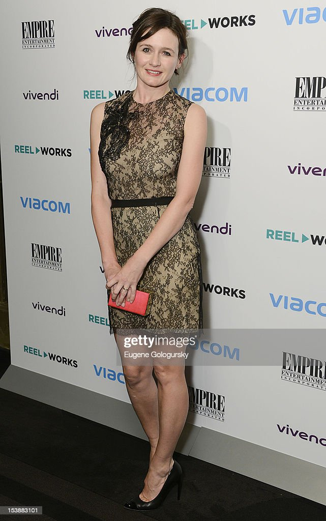 Emily Mortimer attends the Reel Works 2012 Gala Benefit at The Edison Ballroom on October 10, 2012 in New York City.