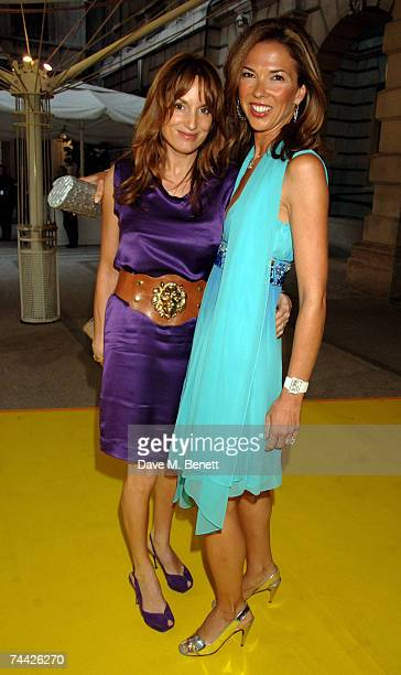 Emily Oppenheimer and Heather Kerzner arrive at the Royal Academy Summer Exhibition at the Royal Academy of Arts on June 6 2007 in London England