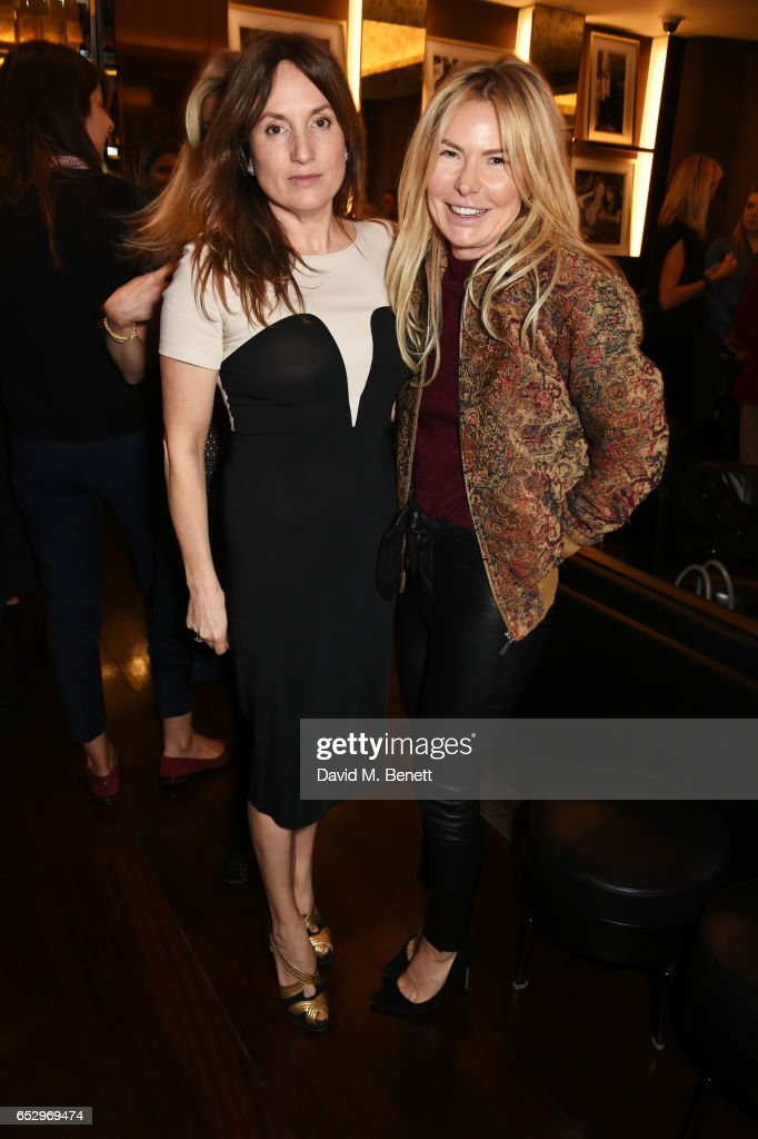 Emily Oppenheimer (L) and Sam Heyworth attend a cocktail party at the Bulgari Hotel London to celebrate the launch of MIASUKI at Harrods on March 13, 2017 in London, England.