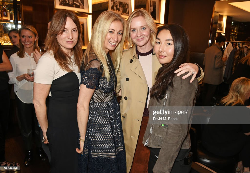 Emily Oppenheimer, Jenny Halpern-Prince, Kate Reardon and MIASUKI founder Mia S. Lei attend a cocktail party at the Bulgari Hotel London to celebrate the launch of MIASUKI at Harrods on March 13, 2017 in London, England.