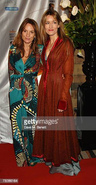 Emily Oppenheimer Turner and Natascha McElhone attend the Inaugural BAFTA Nominees Reception party at the Natural History Museum on February 10 2007...