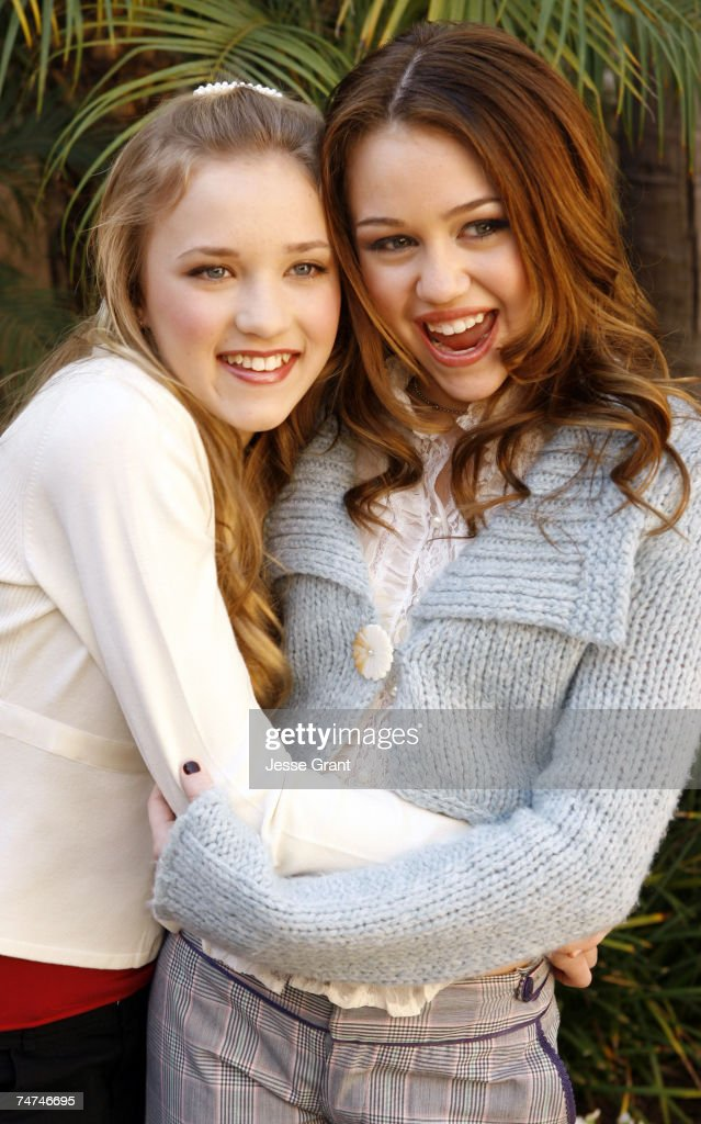 Emily Osment And Miley Cyrus Stars of Disney Channe...