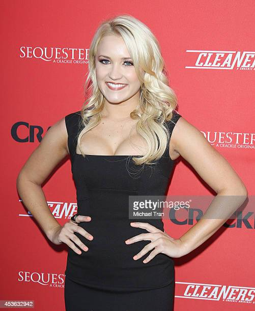 Emily Osment arrives at the Crackle Original Series' 'Cleaners' and 'Sequestered' Summer premiere celebration held at 1 OAK on August 14 2014 in West...