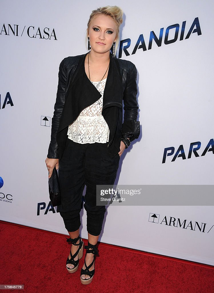 Emily Osment arrives at the 'Paranoia' - Los Angeles Premiere at DGA Theater on August 8, 2013 in Los Angeles, California.