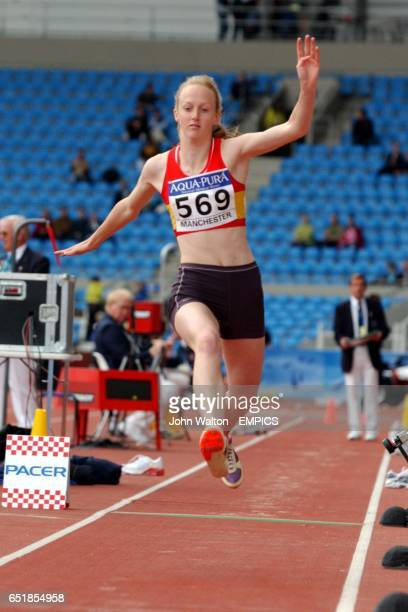 Emily Parker in action in the women's triple jump