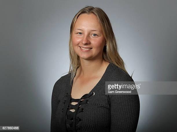 Emily Pedersen of Denmark poses for a portrait at LPGA Headquarters on December 5 2016 in Daytona Beach Florida