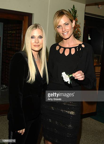 Emily Procter and Amber Valletta during Escada and Emily Procter Host the Launch of Escada's 2006 Spring/Summer Collection to Benefit St Jude...