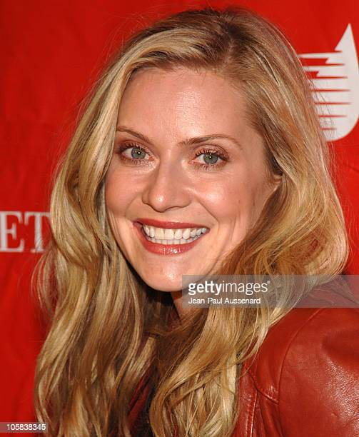 Emily Procter during 2nd Annual Celebrity Rock'N Bowl Arrivals at Lucky strike Lanes in Hollywood California United States