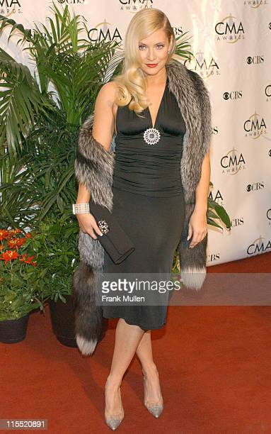 Emily Procter during 38th Annual Country Music Awards Arrivals at Grand Ole Opry House in Nashville Tennessee United States