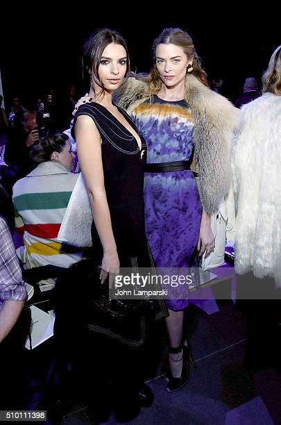 Emily Ratajkowski and Jaime King attends Altuzarra show during the Fall 2016 New York Fashion Week on February 13 2016 in New York City