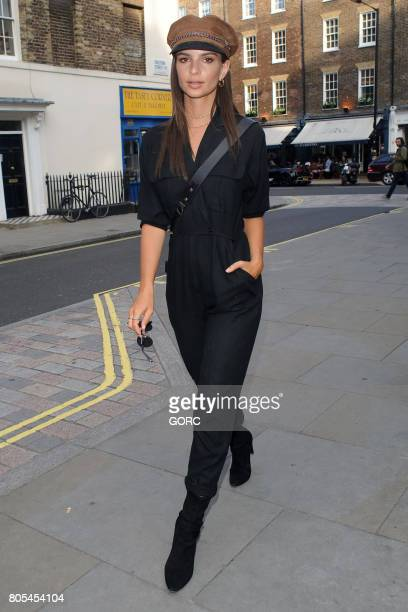 Emily Ratajkowski arriving at the Chiltern Firehouse on July 1 2017 in London England