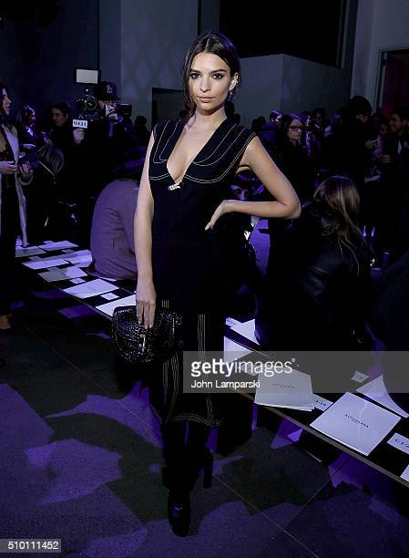 Emily Ratajkowski attends Altuzarra show during the Fall 2016 New York Fashion Week on February 13 2016 in New York City