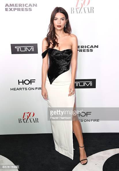 Emily Ratajkowski attends Harper's BAZAAR celebration of the 150 Most Fashionable Women presented by TUMI in partnership with American Express La...