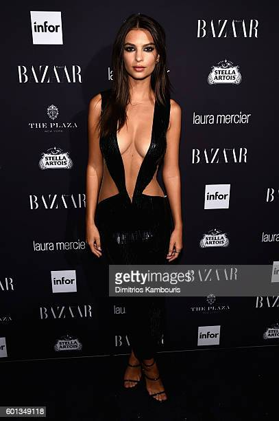 Emily Ratajkowski attends Harper's Bazaar's celebration of 'ICONS By Carine Roitfeld' presented by Infor Laura Mercier and Stella Artois at The Plaza...