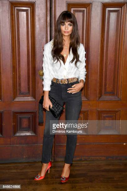 Emily Ratajkowski attends Marc Jacobs SS18 fashion show during New York Fashion Week at Park Avenue Armory on September 13 2017 in New York City