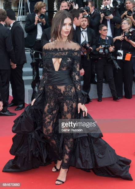 Emily Ratajkowski attends ' screening during the 70th annual Cannes Film Festival at Palais des Festivals on May 18 2017 in Cannes France