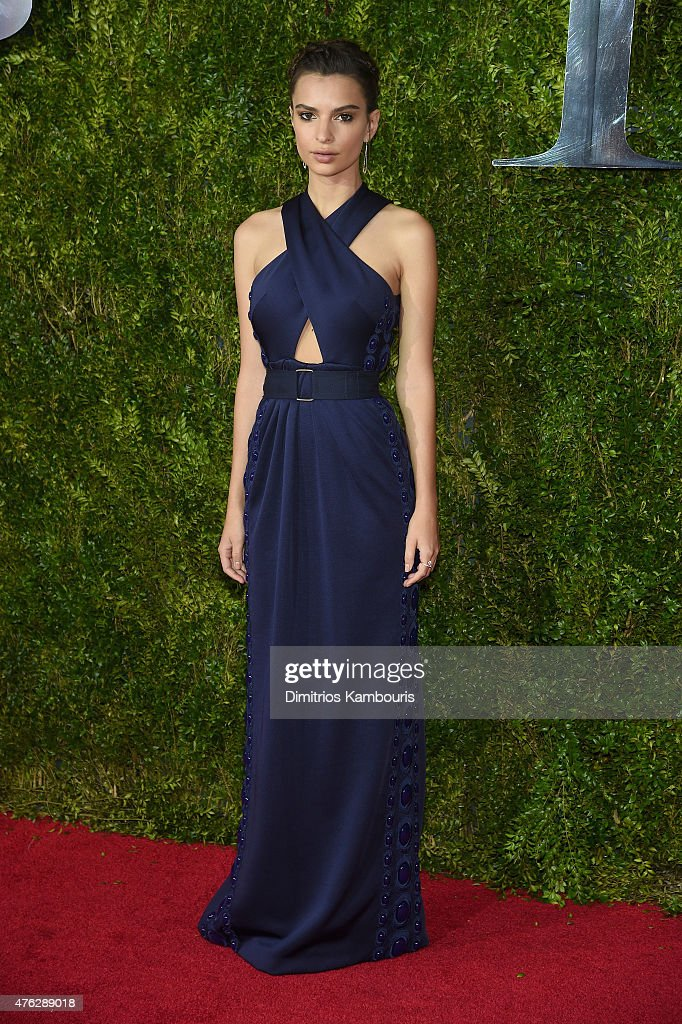 Emily Ratajkowski attends the 2015 Tony Awards at Radio City Music Hall on June 7 2015 in New York City