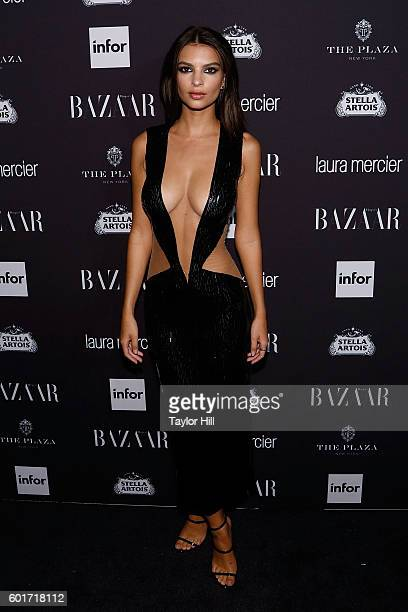 Emily Ratajkowski attends the 2016 Harper ICONS Party at The Plaza Hotel on September 9 2016 in New York City